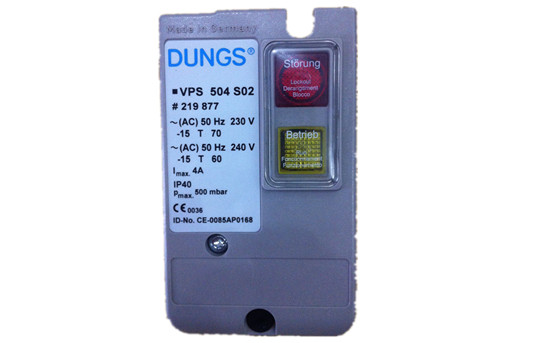 阀门监控系统适用于DUNGS多重调节设备,双电磁阀DMV和燃气多功能组合器。通过一个转接器,VPS504也可用于直至DN80,带或不带支路连接的DUNGS电磁阀。 用于燃气发动机的直流24V结构。 适用于燃气种类1,2,3以及其他中性气体状态介质。用于丁烷的液化气款式。